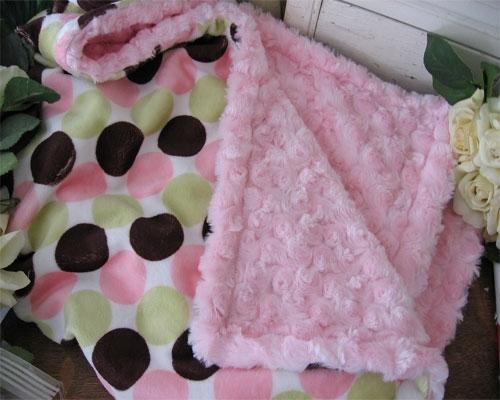 Baby Custom Stroller Lap Blanket Boutique Disco Polka Dot