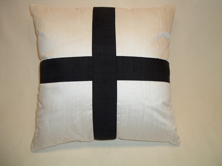 Decorative Pillows With Crosses : Decorative Pillow Cover Black Cross by LenkArt, Pillows