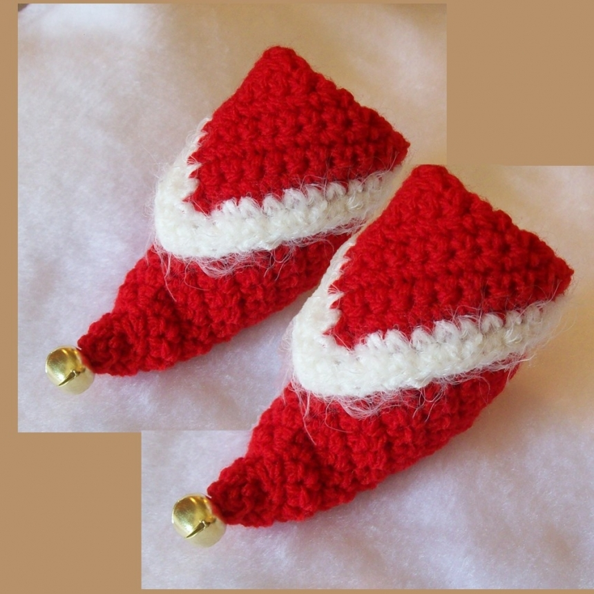 Free Crochet Pattern For Baby Elf Slippers : Image Baby Crochet Elf Slippers Pattern Download