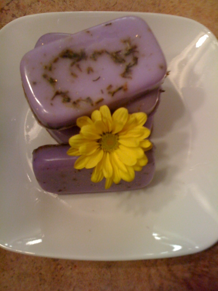 One 4oz lavender herbal soap by spacalls homemade soap - Homemade soap with lavender the perfect gift ...