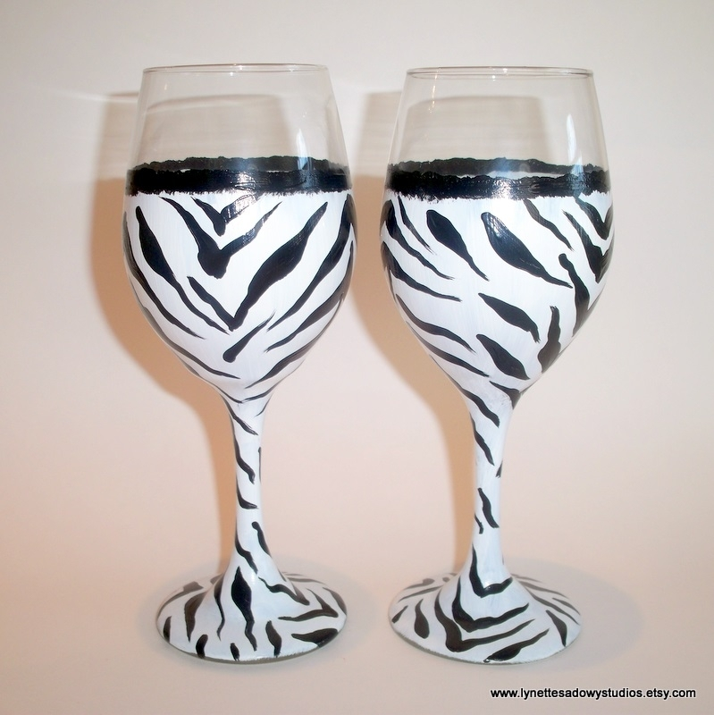 Decorated Wine Glasses For Christmas Canada