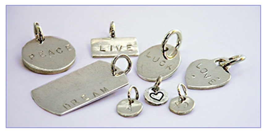 Hand stamped sterling silver pendants by silverseraph custom jewelry zoom more images mozeypictures