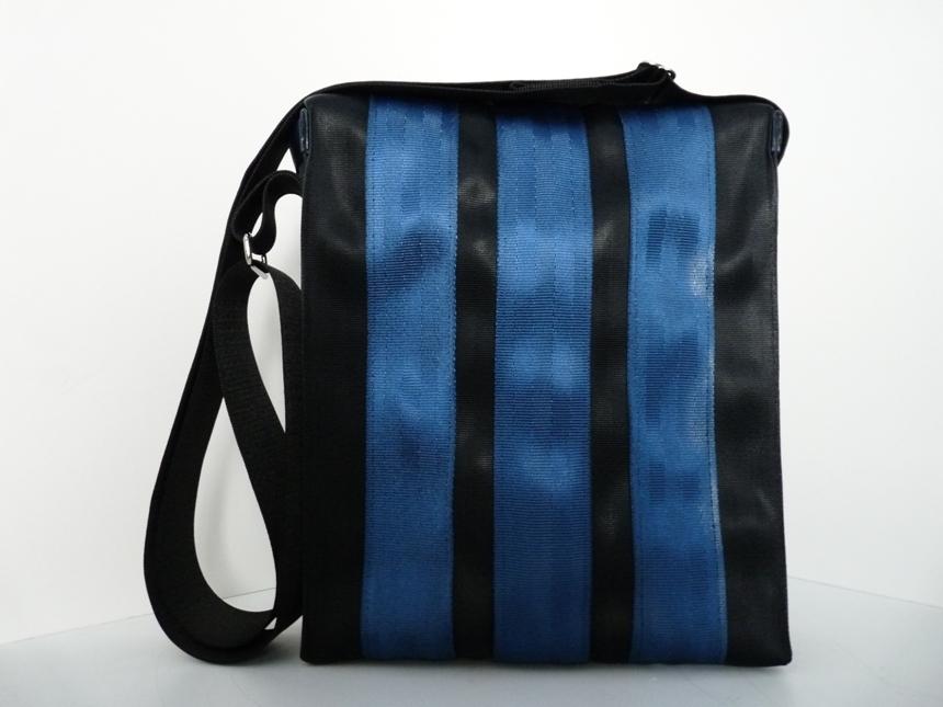 Recycled Seat Belt Medium Messenger Handbag By Non Toxic Bags