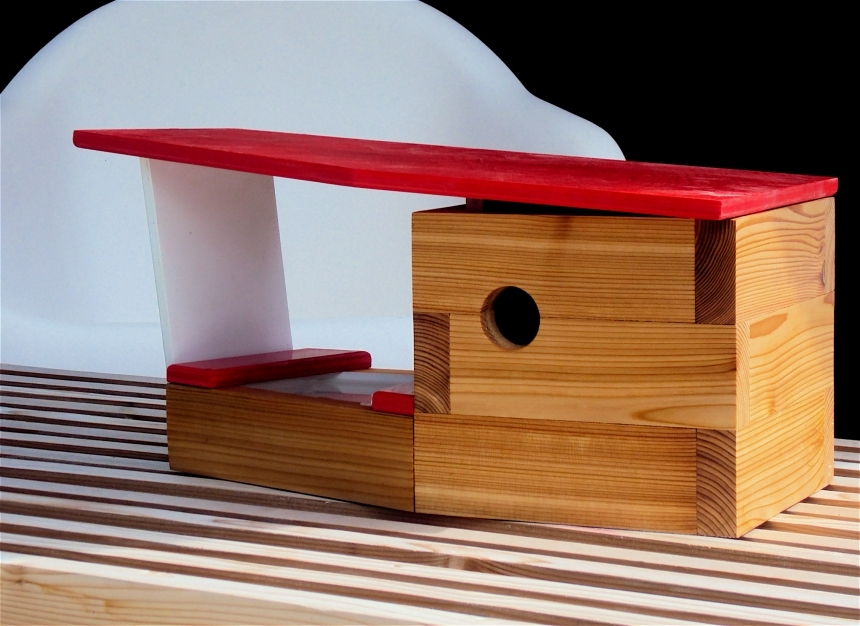 Mid Century Modern Case Study Birdhouse With Attached Pool
