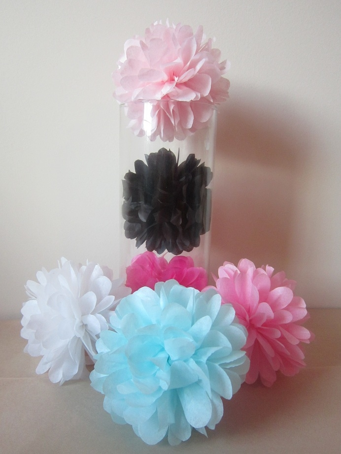 how to make tissue paper pom poms small A formula for tissue paper poms: large, medium, and small you could make the pom find this formula for making tissue paper poms from.