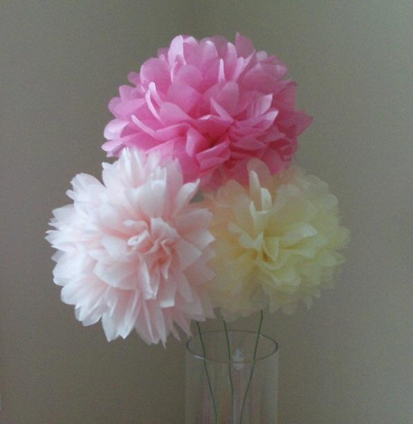 6 tissue paper pom poms you pick colors by tissue paper pom poms mightylinksfo