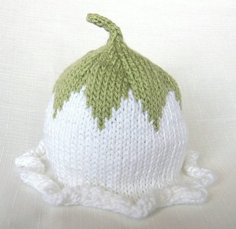 Contemporáneo Knitted Flower Patterns For Baby Hats Festooning ...
