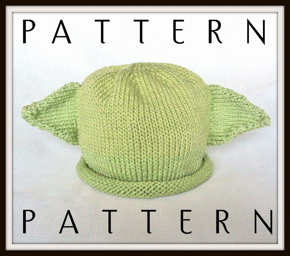 Knitting Pattern For Baby Yoda Hat : Boston Beanies Baby Yoda Pattern, knit by BostonBeanies, Knitting