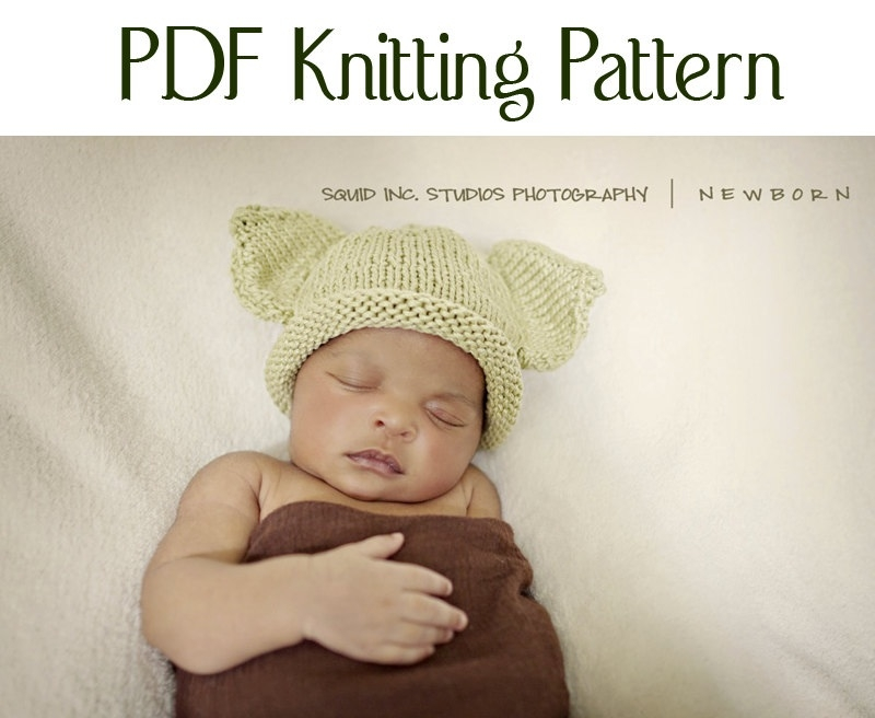 Boston Beanies Knit Baby Yoda Pattern by BostonBeanies, Knitting
