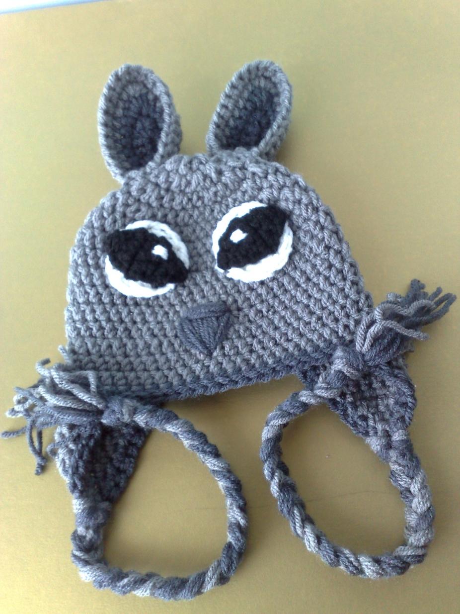 Crochet Animal Hats : squirrel crochet hat animal crochet hat earflap hat 39843 fec5.jpg