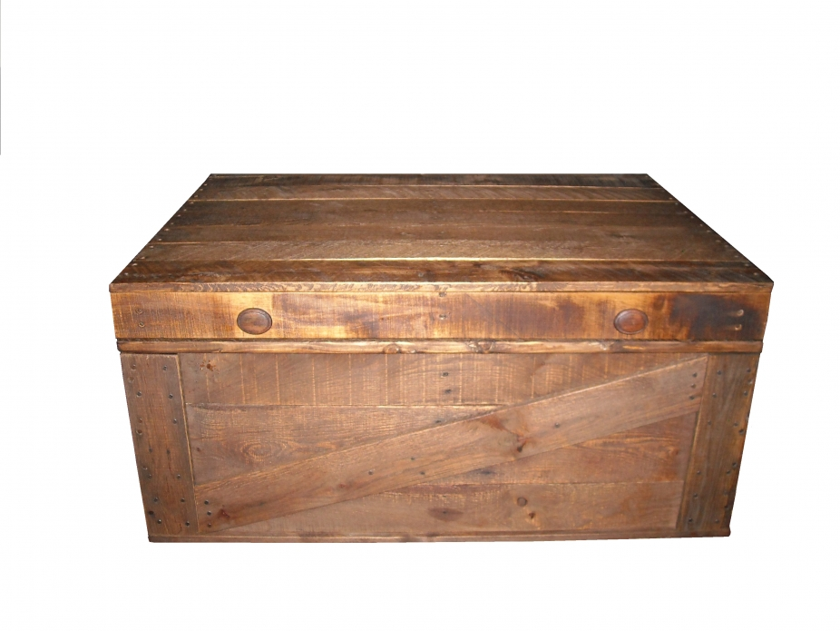 Coffee Table, Storage Box, Primitive Home Decor