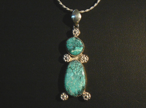 Number 8 turquoise and sterling silver pendant by blue stone rising aloadofball Choice Image