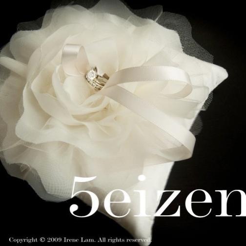 bloomi series v ivory bloom wedding ring pillow by 5eizen - Wedding Ring Pillow