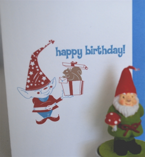 Gnome Birthday Surprise Birthday Card By Giant Gnome Design