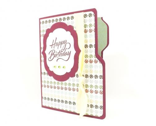 File Folder Birthday Card Gift Card Holder Purple By Fairy Cardmaker