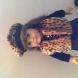 cheetah print vest & beret