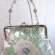 Butterfly Floral Silk Jacquard Clutch with Beaded Handle