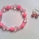 Pink Faceted Beaded Bracelet Set