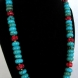 Red and Blue Turquoise Necklace