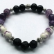 Purple and Black bracelet for Essential Oils