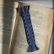 Bookmark, blue scroll