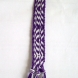 Purple and white zigzag pattern keychain