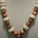 Gold & Cream Brown Necklace