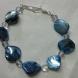 Bracelet in Blue mother of pearl