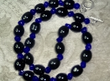Very Classy Bold and Glossy Onyx Black Stone Necklace *SOLD* Custom Orders WELCOME