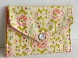 Mini Wallet in Pretty Pinwheels