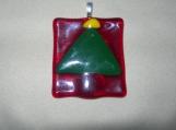 Christmas Tree Glass Pendant