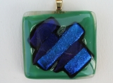 Green Glass with Blue Dichroic Glass