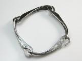 Hook Link Bracelet in silver