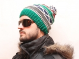 Knit Hat, Mens knit Hat, Winter Hat, Slouchy Beanie Hat, Winter