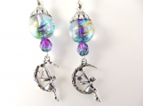 Purple fairy earrings