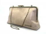 Olea 10 Clutch: Matte Gold and Beige