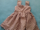 Darling Brown with Pink Polka Dot Sundress !!!