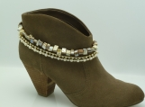 DC105 Black Lip Shell Pearl and Rhinestone Boot Chain