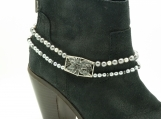 DC116 Charcoal and Silver Boot Chain