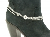 DC134 Silver and Grey Chain with Rhinestones