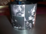 Dave Grohl black and white picture collage vinyl record bracelet
