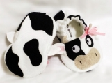 Cow Baby Booties, 0 - 18 Months - Boys or Girls