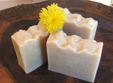 Dandelion Soap, a natural, unscented hand and body soap