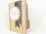 File Folder Card Thank You Gift Card Holder