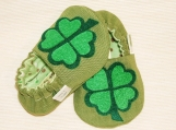 Shamrock / Clover Baby Booties - 0 - 18 Months