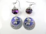 Custom-Hand stamped -believe- earrings