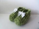 Olive Crochet Baby Booties