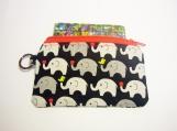 Black Elephant handmade fabric zip purse id1340455