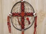 CrossCatcher: A Beaded Cross captured in a Dream Catcher (CC07)