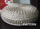 Knitted Extra Large Pouf Pattern